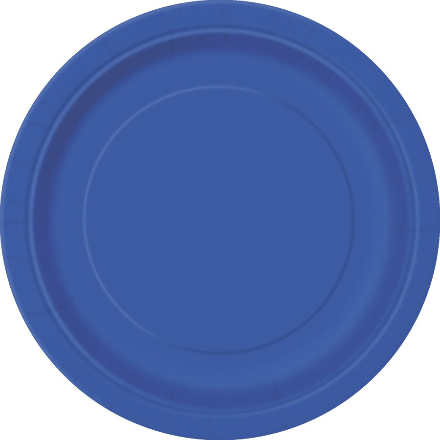 "9"" Royal Blue Paper Plates 8/pk"