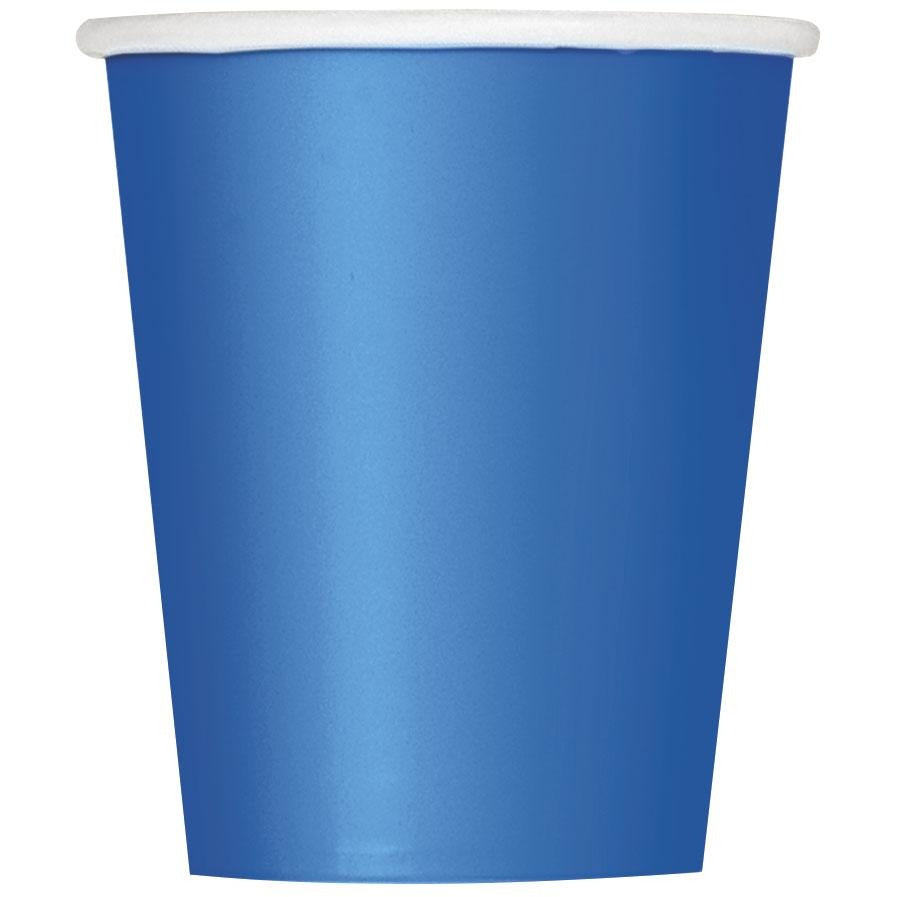 9oz Royal Blue Paper Cups 8/pk