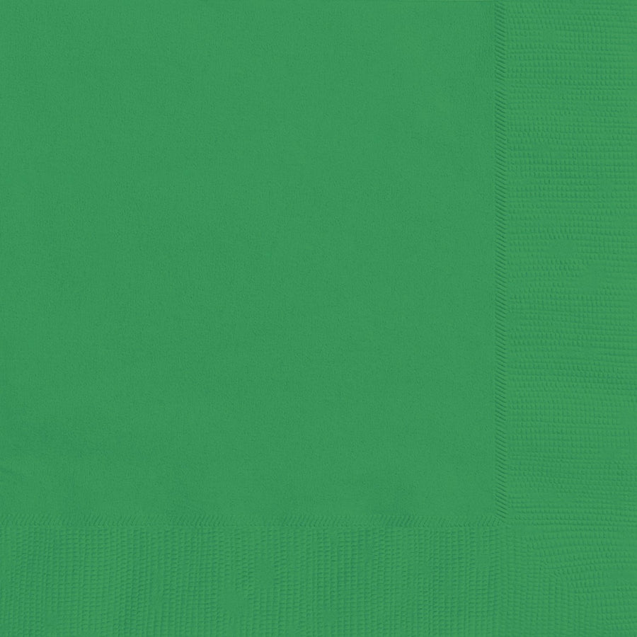 "10"" x 10"" Emerald Green Napkins 20/pk"