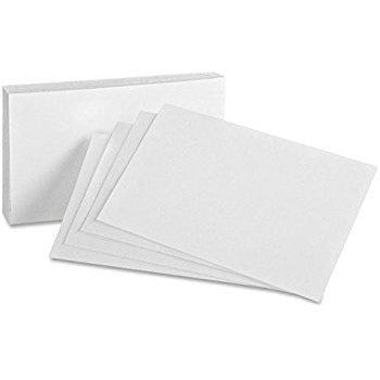 "White Plain Index Cards, 100-pc 3""x5"""