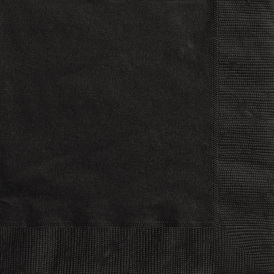 "13"" x 13"" Black Napkins 20/pk"