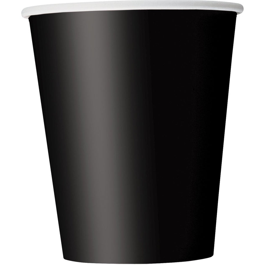 9oz Black Paper Cups 8/pk