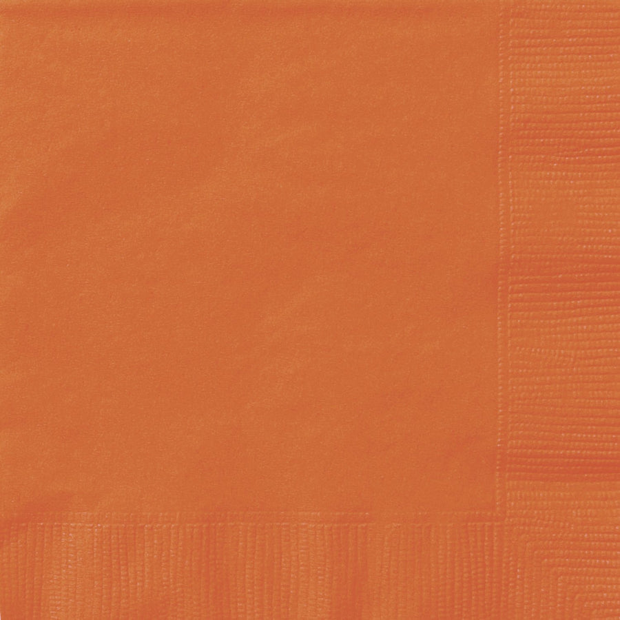 "10"" x 10"" Orange Napkins 20/pk"