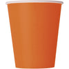 9oz Orange Paper Cups 8/pk