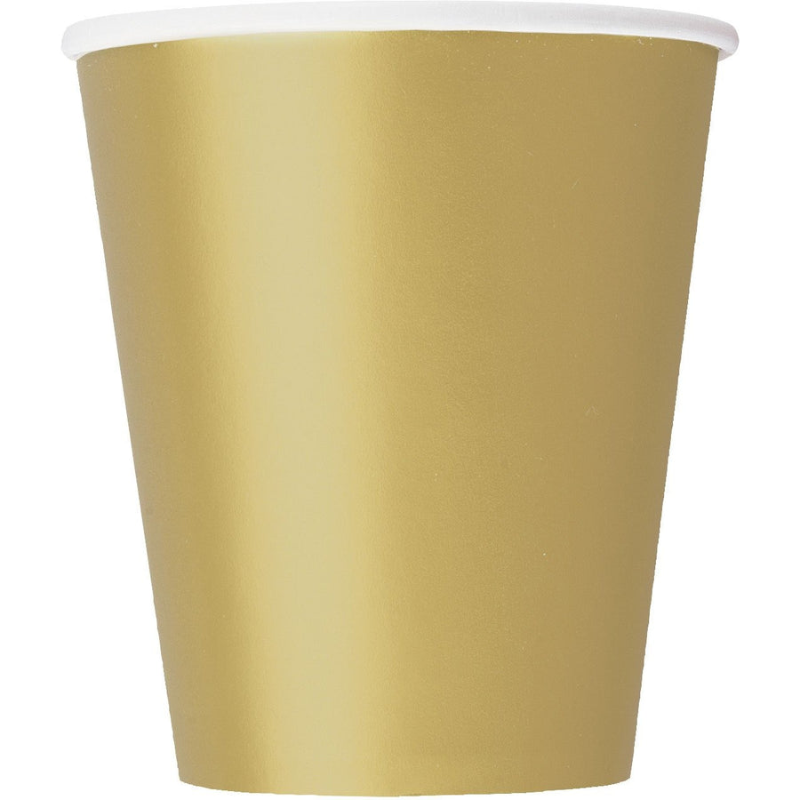 9oz Gold Paper Cups 8/pk