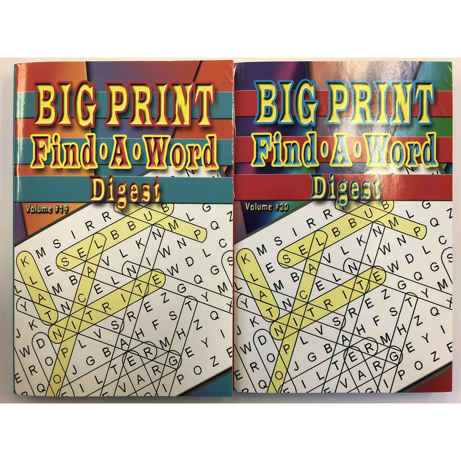 Big Print Find A Word Digest - 2 Assorted
