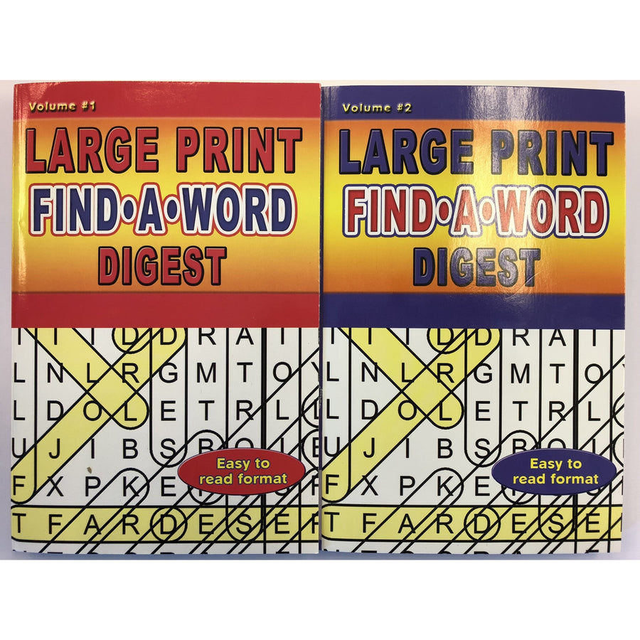 Large Print Find A Word Digest - 2 Assorted