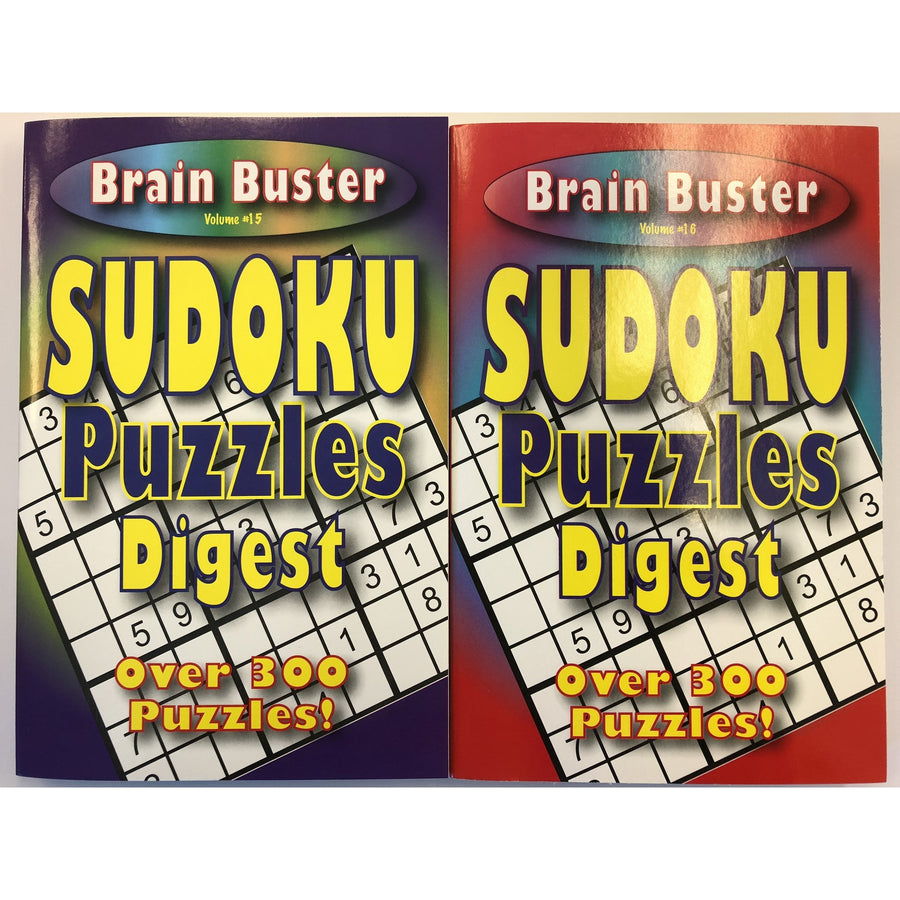 Brain Buster Sudoku Puzzles Digest - 2 Assorted