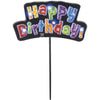 Flashing Multi-Colour Happy Birthday Cake Topper