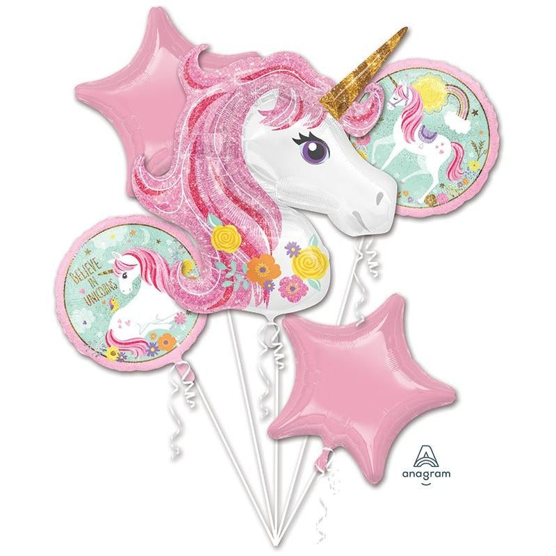 Bouquet Balloons Magical Unicorn