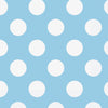 "13"" x 13"" Powder Blue Dots Napkins 16/pk"