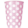 12oz Lovely Pink Dots Paper Cups 8/pk