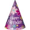 Party Hats - Birthday Blossom, 8/pk