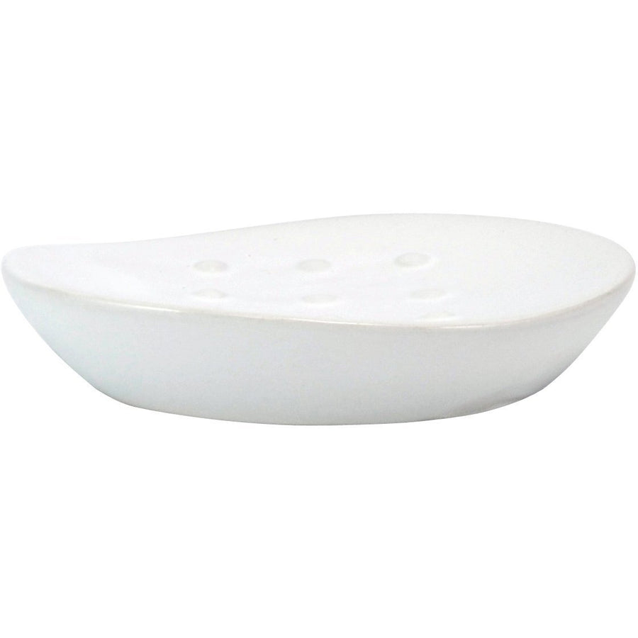 Ceramic Soap Dish, Matte White