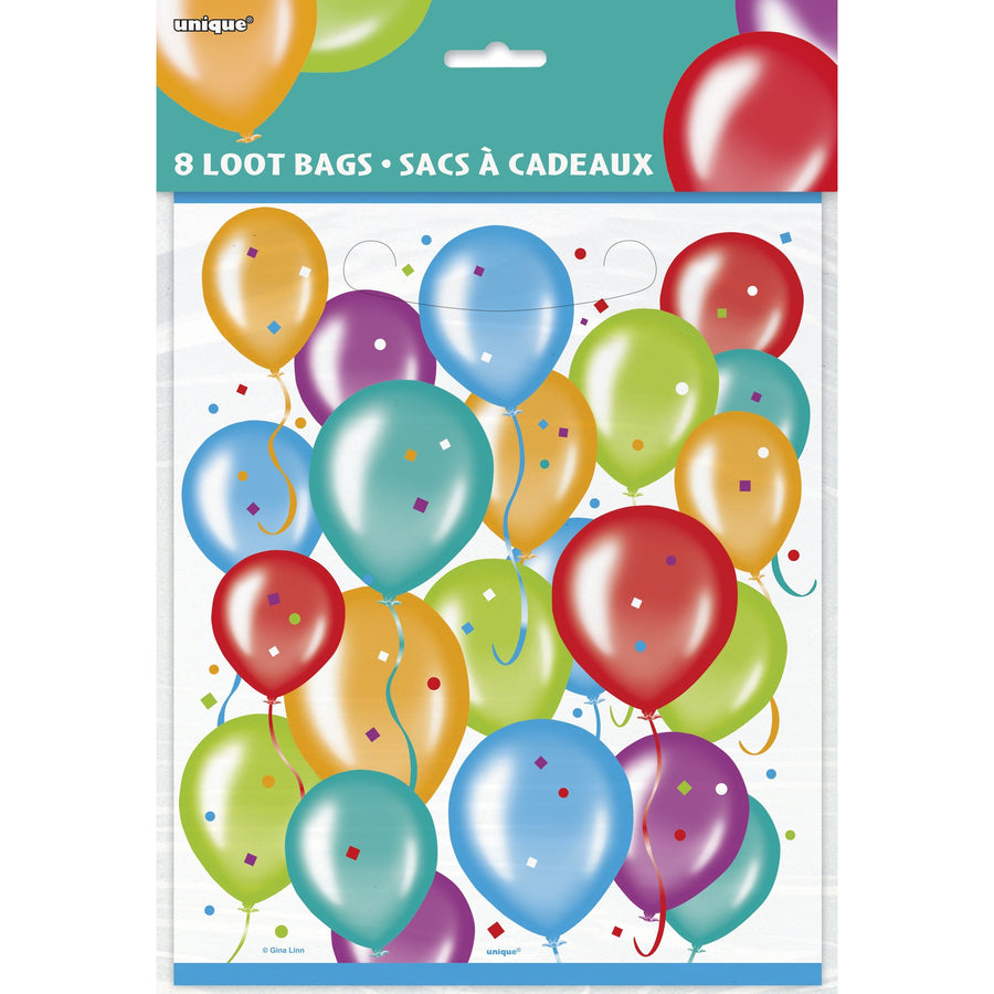Loot Bags - Balloon Bunches, 8/pk