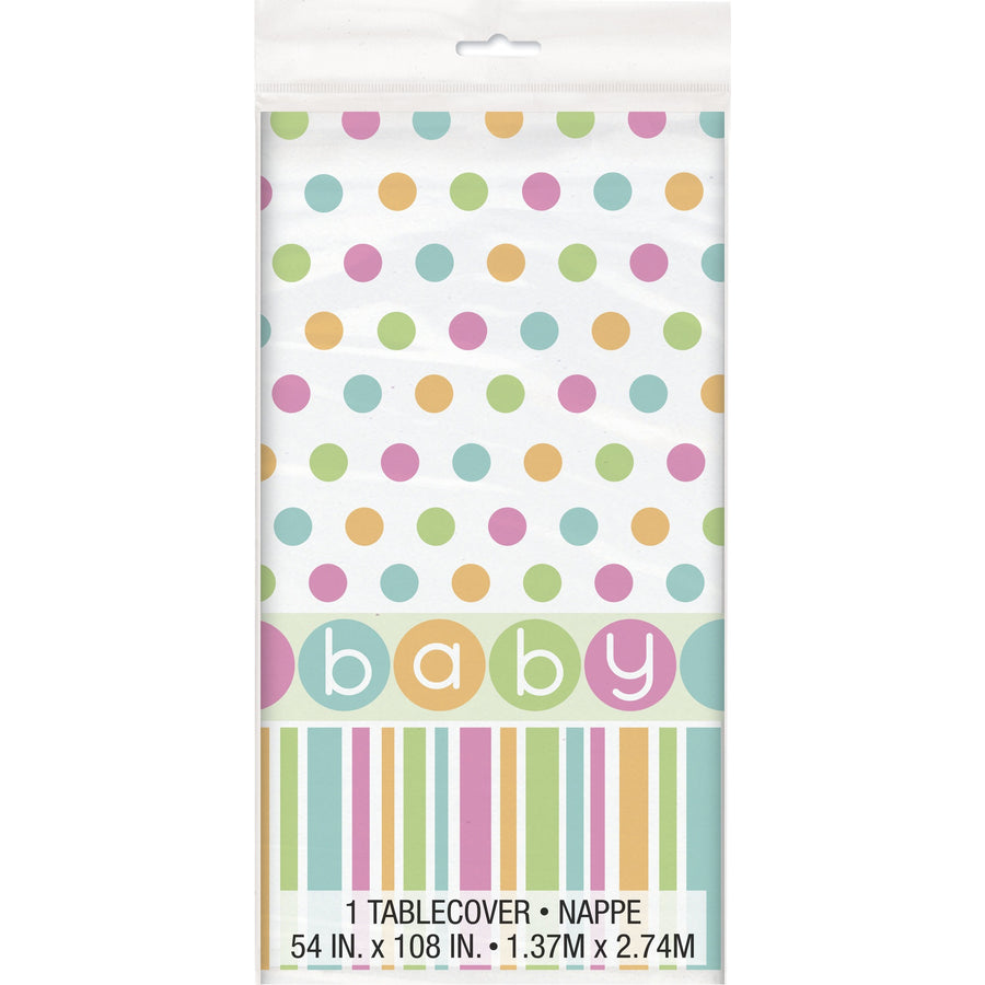 Pastel Baby Plastic Table Cover Rectangular