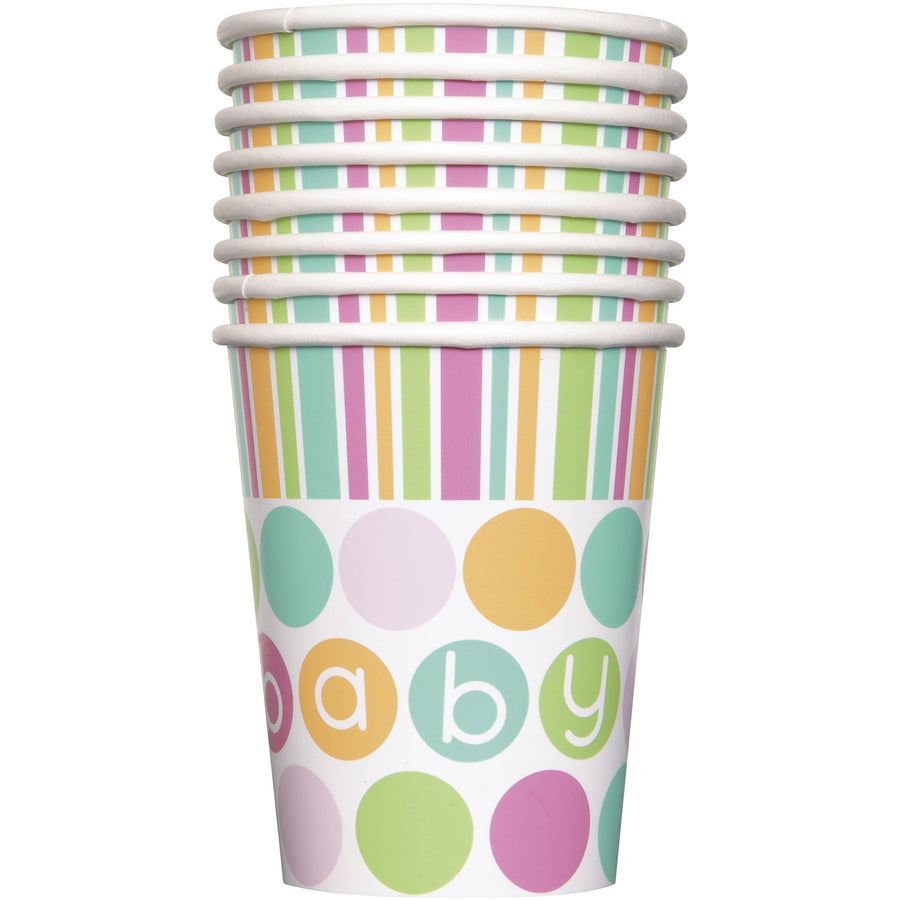 9oz Pastel Baby Paper Cups 8/pk