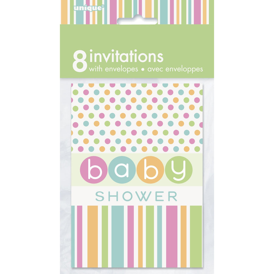 Invitations - Baby Shower, 8/pk