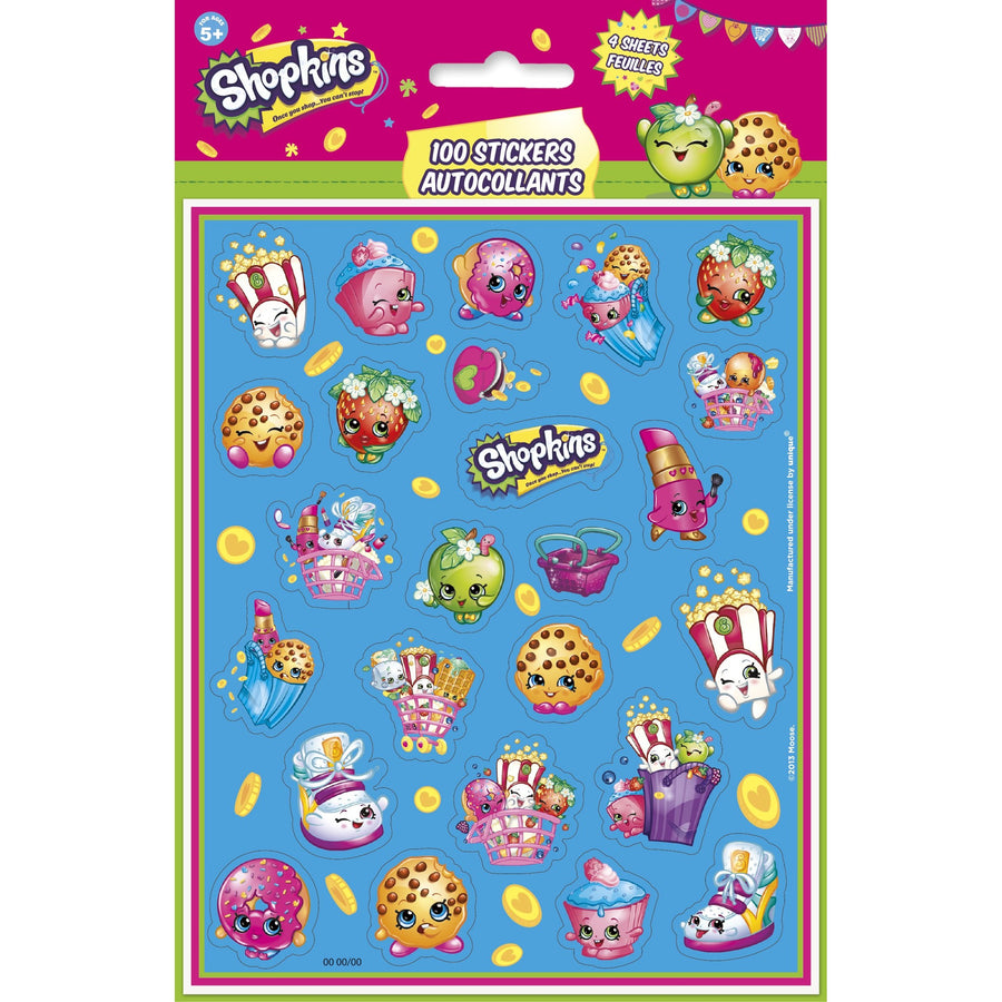 Sticker Sheets - Shopkins, 100/pk