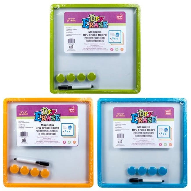Magnetic White Board with Buttons & Marker