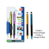 2pc 2-in-1 Stylus Ball Pen
