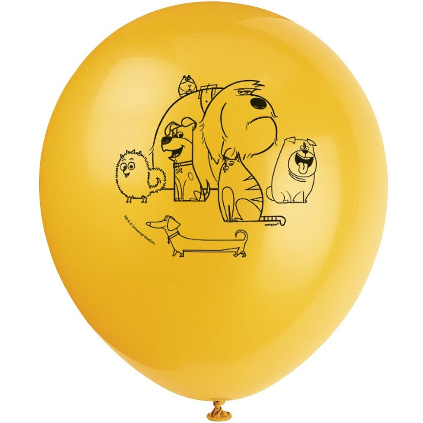 Secret Pets of Life Printed Latex Balloons 4 assorted colours 8/pk
