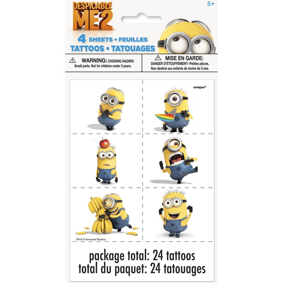 Tattoo Sheets - Minions, 24/pk