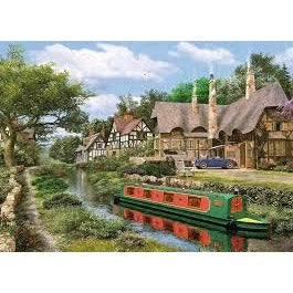 Jigsaw Puzzle 1000 Pieces - Cottage Canal