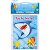 Invitations - Shark and Fish, 8/pk