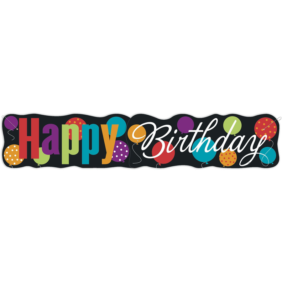 """Happy Birthday"" Giant Jointed Banner"