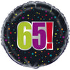 "18"" Black Rainbow Dots 65!"