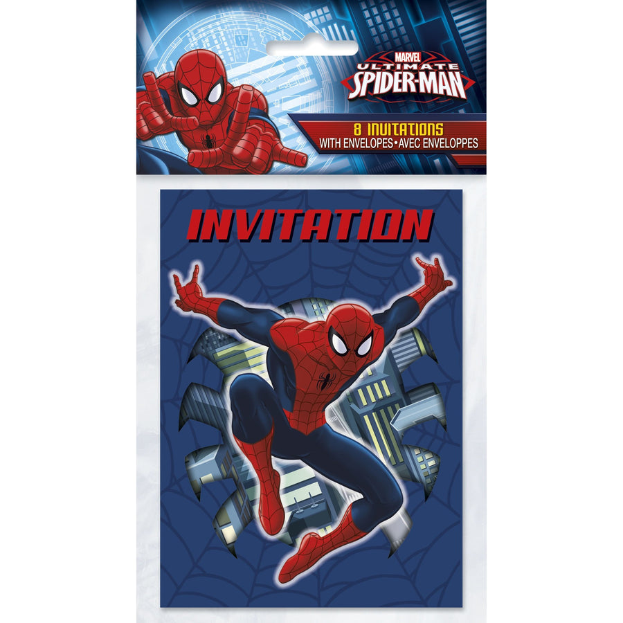 Invitations - Spiderman, 8/pk