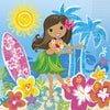 "13"" x 13"" Hula Beach Party Napkins 16/pk"