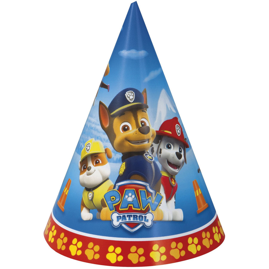 Party Hats - Paw Patrol, 8/pk