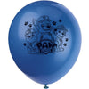 Paw Patrol Printed Latex Balloons 4 assorted colours 8/pk