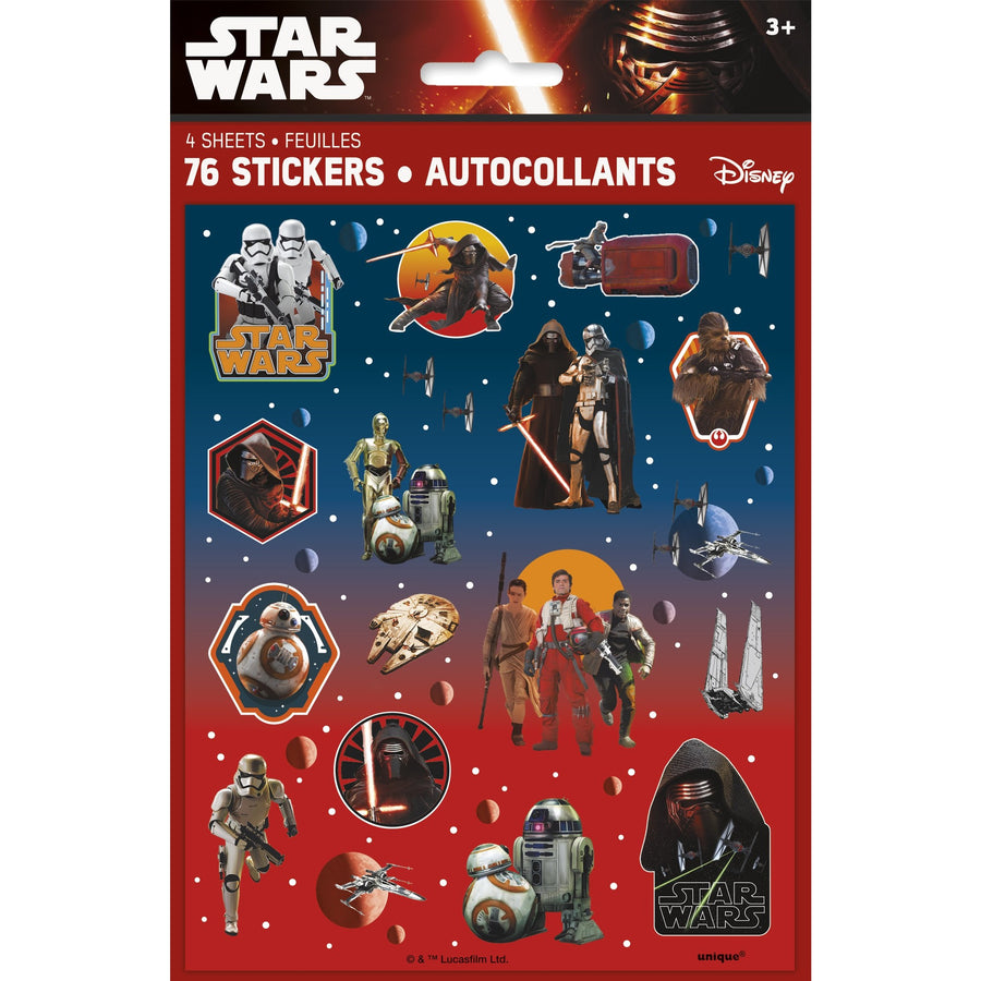 Sticker Sheets - Star Wars, 76/pk