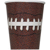9oz Football Party Paper Cups 8/pk