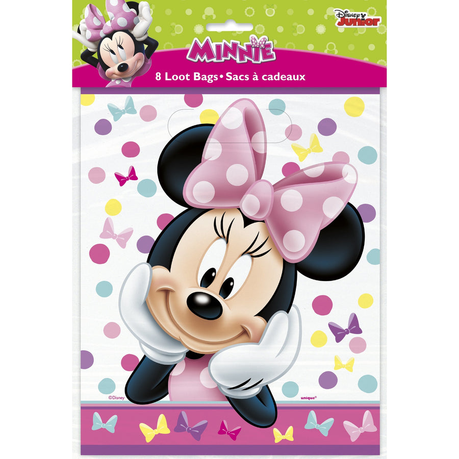 Loot Bags - Minnie Mouse, 8/pk