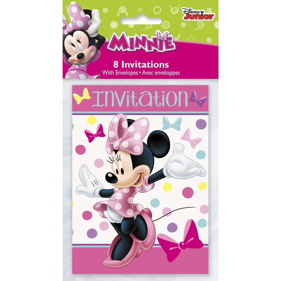 Invitations - Minnie Mouse, 8/pk