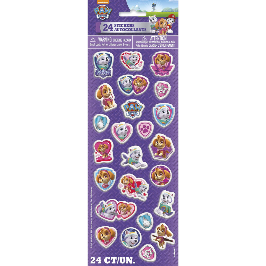 Puffy Sticker Sheet - Paw Patrol, 24/pk