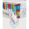 Rainbow Ribbons Plastic Table Cover Rectangular