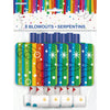 Blowouts Rainbow - Ribbons, 8/pk