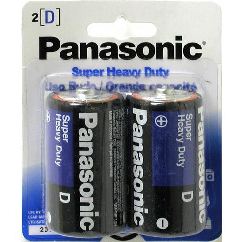 Battery Panasonic Super Heavy Duty - D, 2/pk