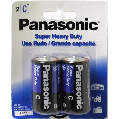 Battery Panasonic Super Heavy Duty - C, 2/pk