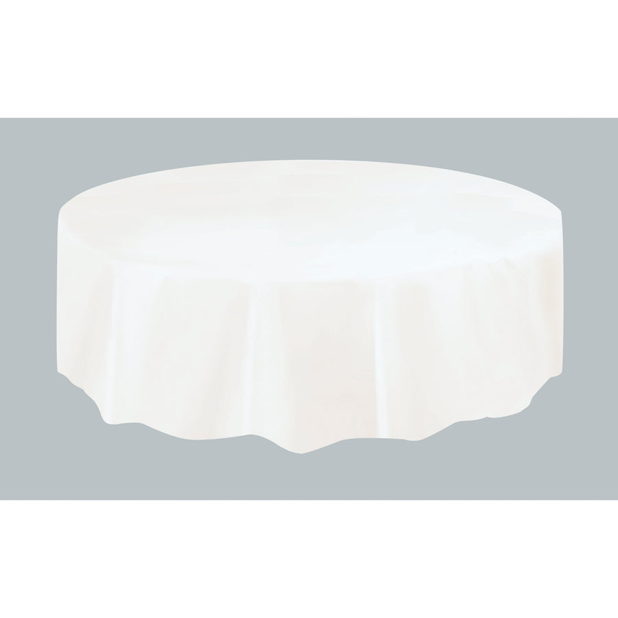 White Plastic Table Cover Round