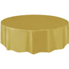 Gold Plastic Table Cover Round