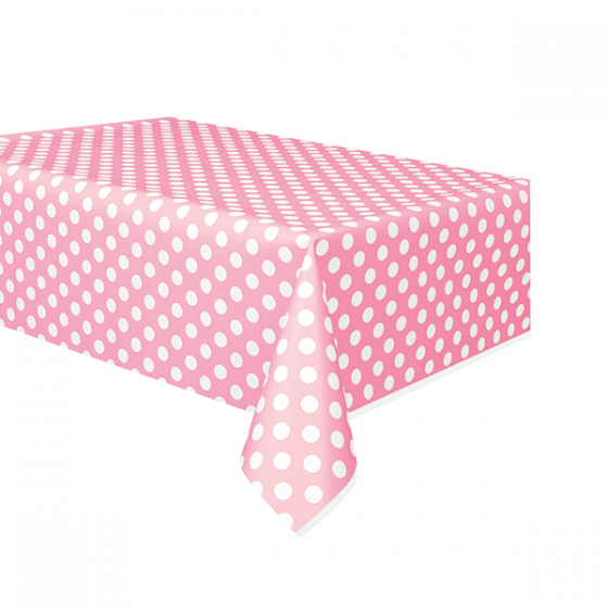 Lovely Pink Dots Plastic Table Cover Rectangular