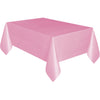 Lovely Pink Plastic Table Cover Rectangular