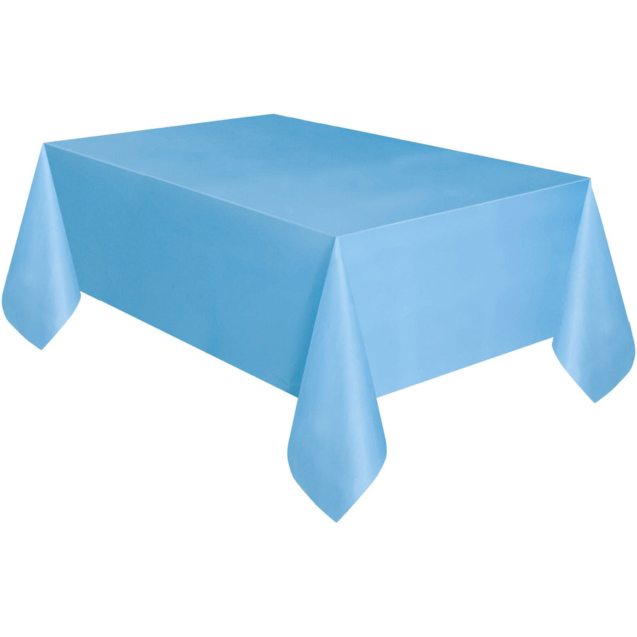 Powder Blue Plastic Table Cover Rectangular