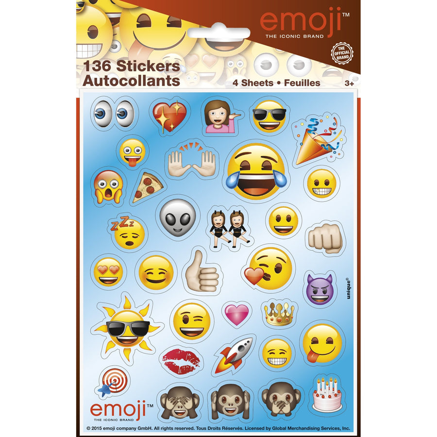 Sticker Sheets - EMOJI, 136/pk